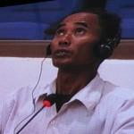 Chan Khan embarrassé par une question du juge Lavergne. (Anne-Laure Porée)