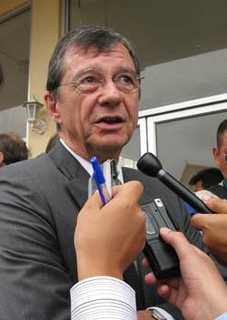 Marcel Lemonde à l'ouverture du procès de Duch le 17 février 2009. (Anne-Laure Porée)