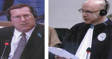 Craig Etcheson, interrogé par Alex Bates, co-procureur sur le départ. (Anne-Laure Porée)