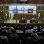 Le tribunal a autorisé les prises de vue dans la salle du public seulement une fois, le 17 février 2009. (POOL CETC-Reuters)