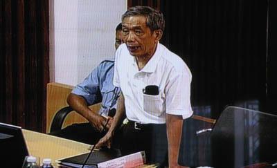 Pour Duch donne un argument solide : personne n'aurait osé contrevenir aux ordres de Nuon Chea d'éliminer les derniers prisonniers. (Anne-Laure Porée)