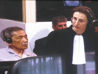 Marie-Paule Canizares avait prévenu en début de séance que son client ne reconnaissait pas Ly Hor comme survivant de S21. (Anne-Laure Porée)