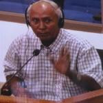 Chum Mey, survivant et partie civile au procès, a témoigné une journée au tribunal. (Anne-Laure Porée)