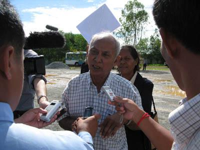 Chum Mey assure qu'il ne reviendra que lorsque la cour lui aura rendu une voix au procès. (Anne-Laure Porée)