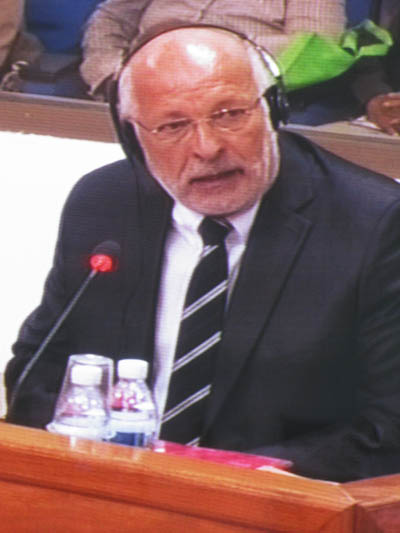 Raoul Marc Jennar, expert appelé par la défense. (Anne-Laure Porée)