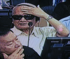 Les maux de tête de Nuon Chea l'empêchent d'assister à l'audience. (Anne-Laure Porée)